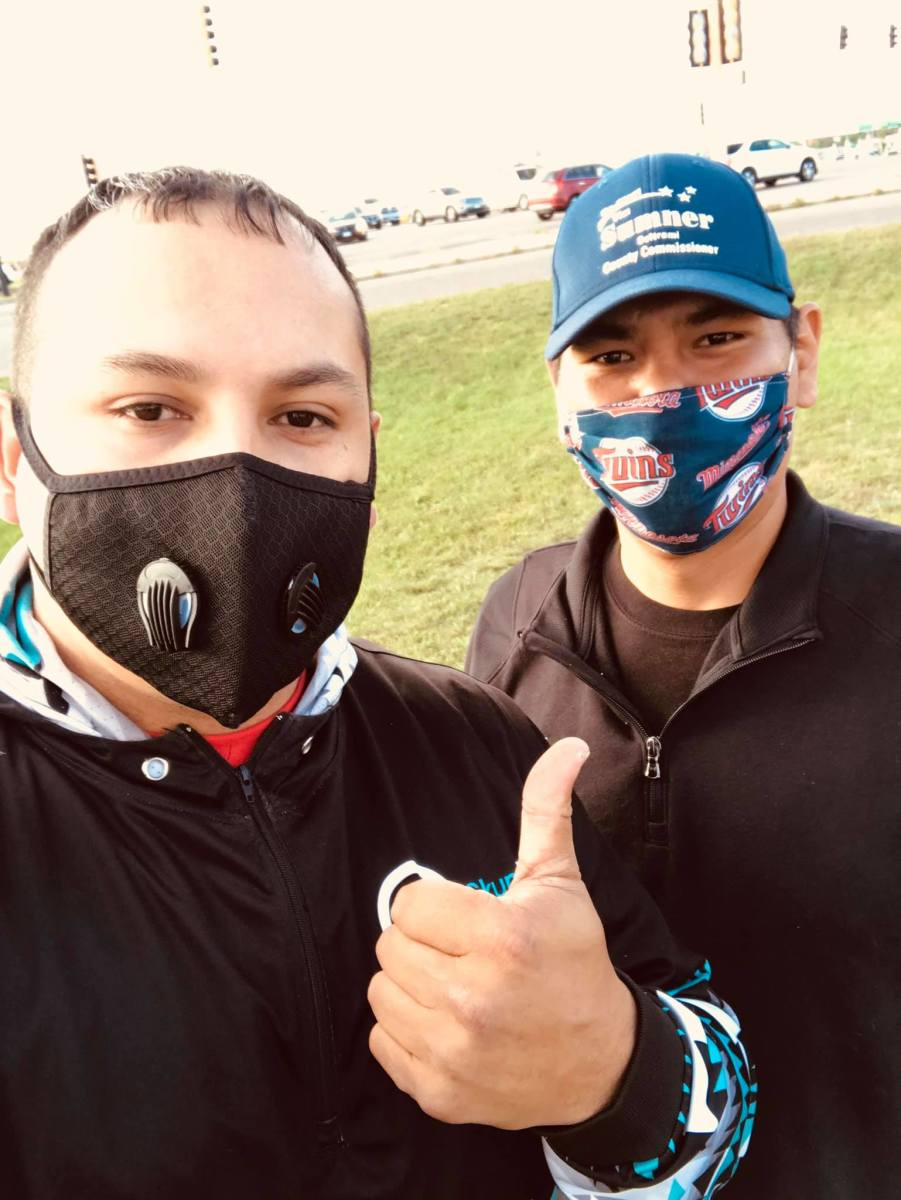 Dan Jourdain and Tim Sumner, both Red Lake Nation. Jourdain was elected to Bemidji City Council in Minnesota on Feb. 9, 2021. Sumner serves on the Beltrami County Commission. (Photo courtesy of Dan Jourdain campaign)