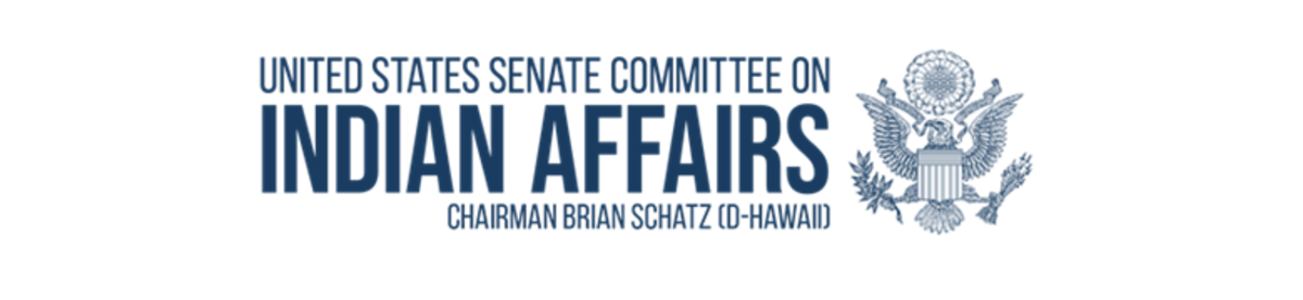 U.S. Senate Committee on Indian Affairs - Schatz - banner logo
