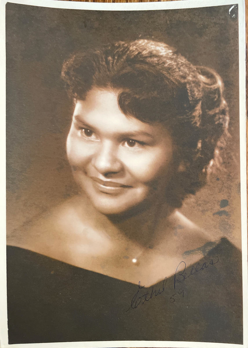 Ethel Bellas, 80, died on Feb. 25, 2021. Photo is of Ethel's graduation from Lone Pine High School in Lone Pine, California in 1959. (Photo courtesy of Melissa Maddux)