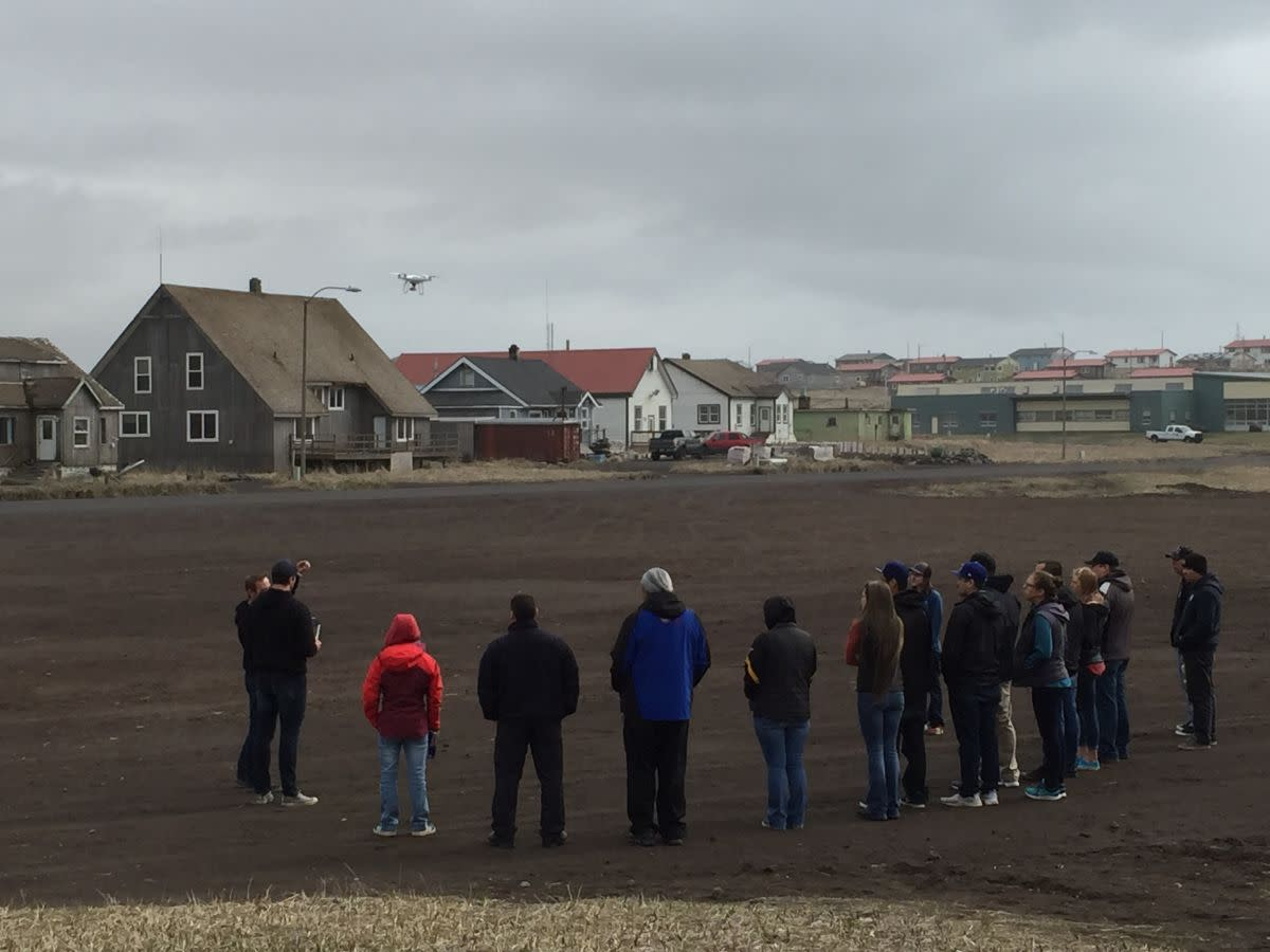 Citizens of the Aleut community of St. Paul in Alaska learn to become drone pilots.