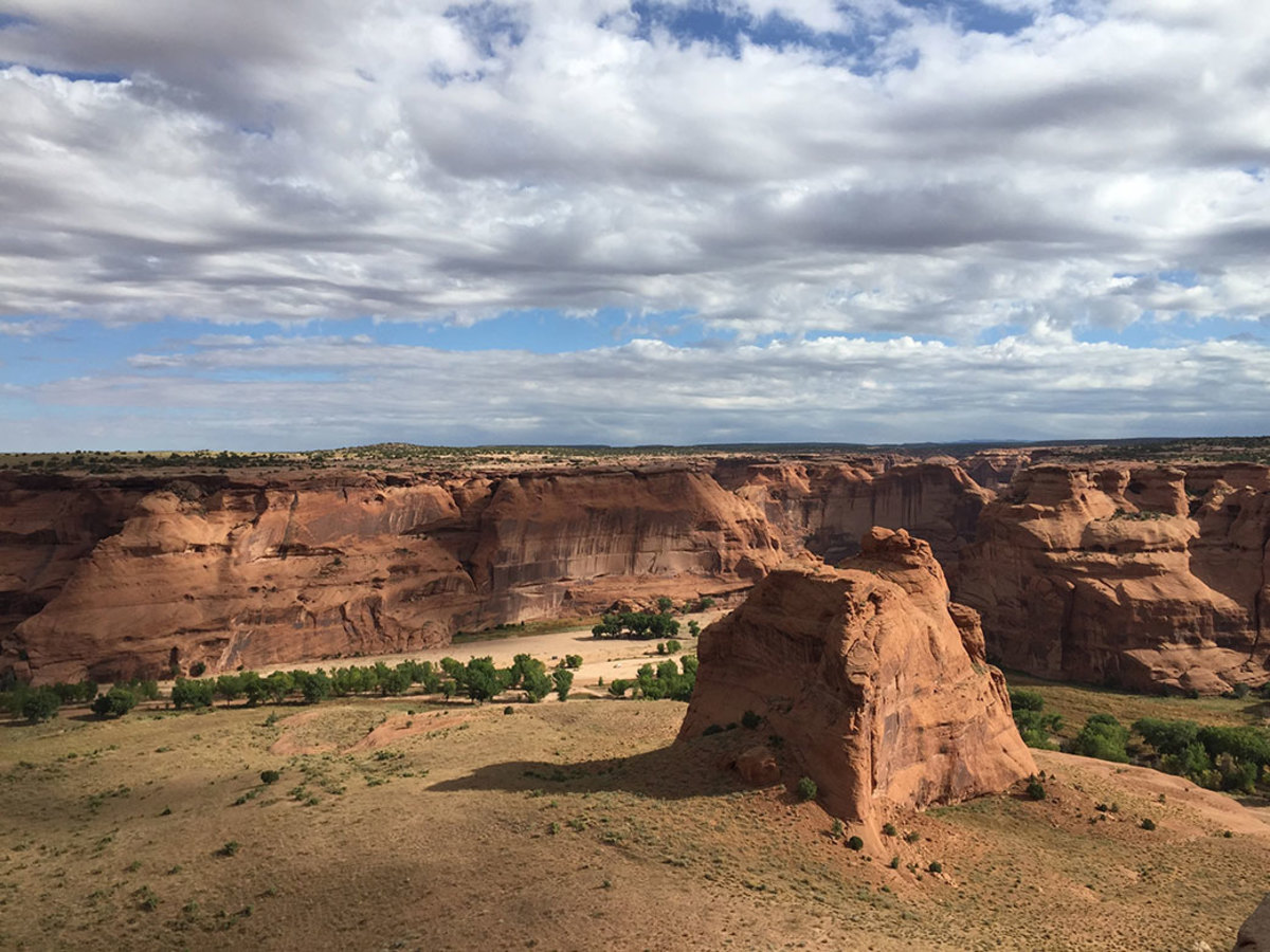 """Canyon de Chelly National Monument (""""Tséyi'"""" in Navajo) in Arizona is located on Navajo Nation land. Members of NASA's Perseverance rover team, in collaboration with the Navajo Nation, has been naming features of scientific interest with words in the Navajo language.Credits: NASA/JPL-Caltech"""