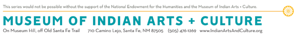 Museum of Indian Arts and Culture/National Endowment for the Humanities - banner logo type