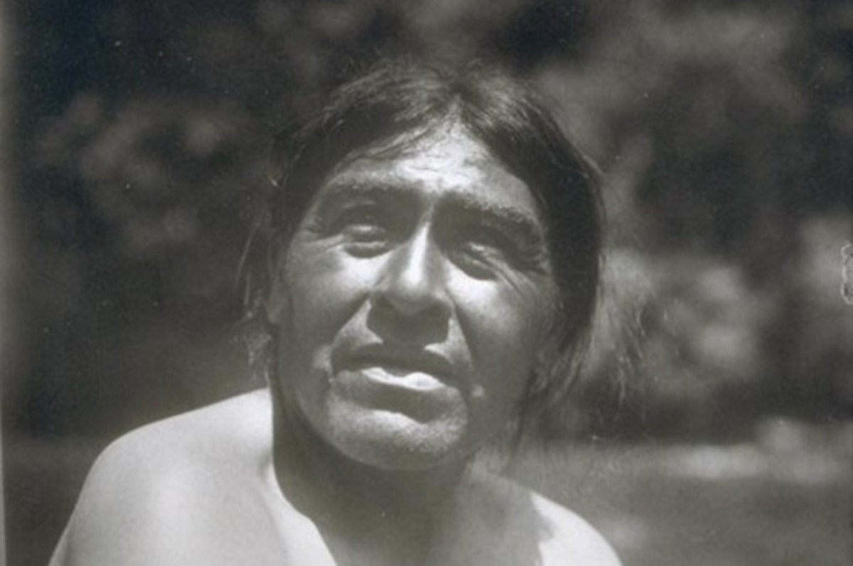 """An Indigenous man called Ishi, who survived two massacres of the Yahi people, worked as a janitor and """"living exhibit"""" at what was then the University of California Museum of Anthropology. He died of tuberculosis in 1916. (Photo courtesy of The Bancroft Library, UC Berkeley)"""