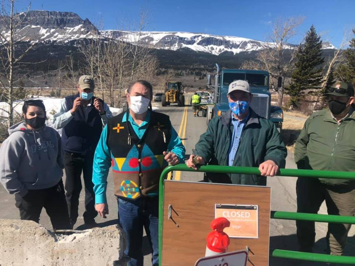 Blackfeet Tribal Business Council voted to open the east entrance of Glacier National Park on Wednesday, March 17, 2021. (Photo courtesy of Blackfeet Covid-19 Incident Command Facebook)