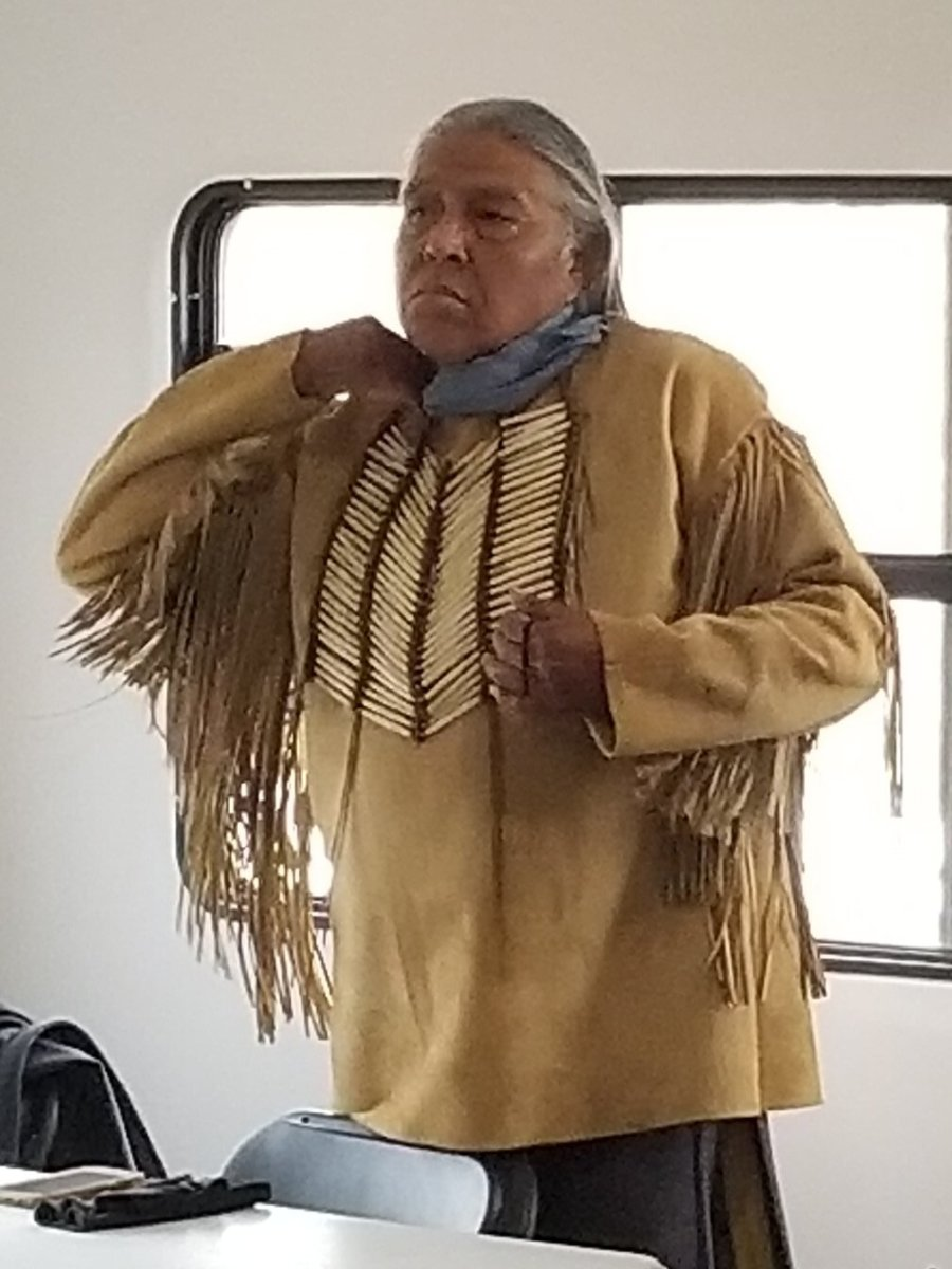 """Gary Tsoodle was proud to finally portray a Kiowa on film in """"News of the World."""" It was good, he said, """"to get Kiowas to play Kiowas, because I've been Cheyenne three times in different movies."""" (Photo courtesy of Lynda DeLaune via Gaylord News)"""