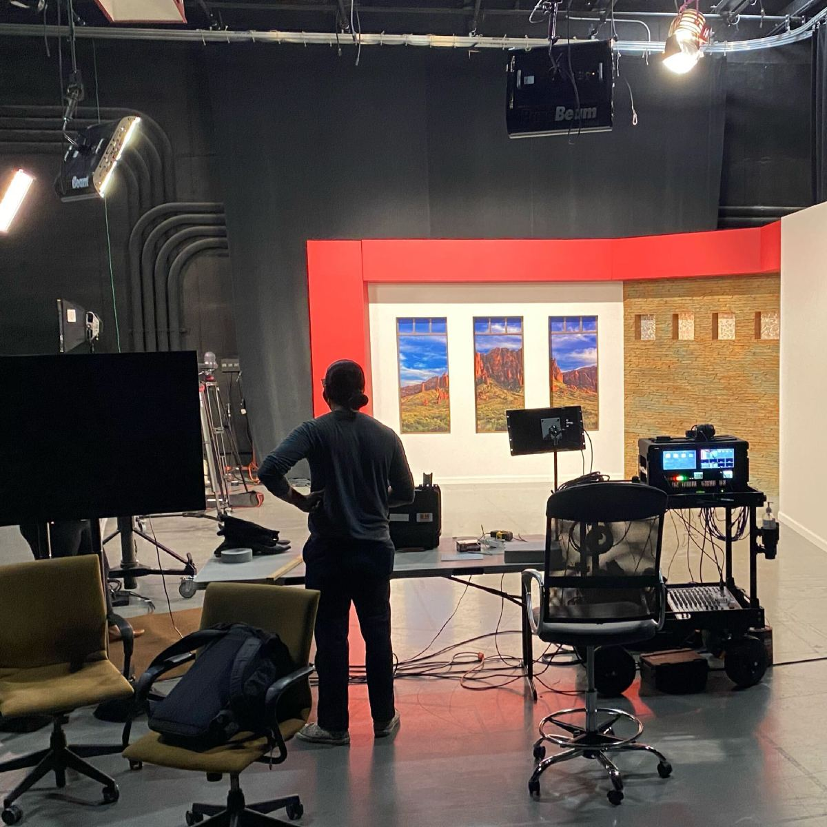 Indian Country Today's broadcast studio in Phoenix, Arizona. (Photo by Indian Country Today)