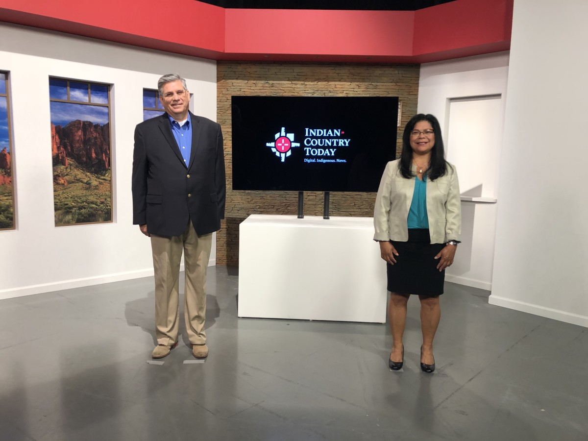 Indian Country Today's broadcast set. (Photo by Indian Country Today)
