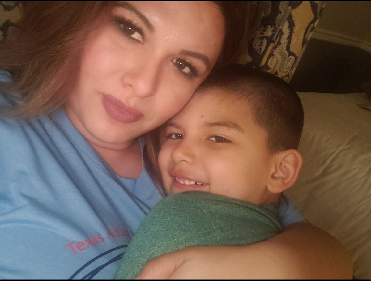 Dr. Crystal Hernandez and her son (Courtesy photo.)