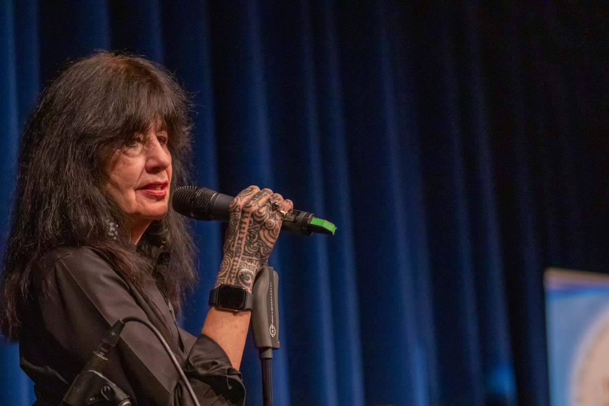 Harjo shared that she had a difficult road before becoming poet laureate. Photo Kirk Francis