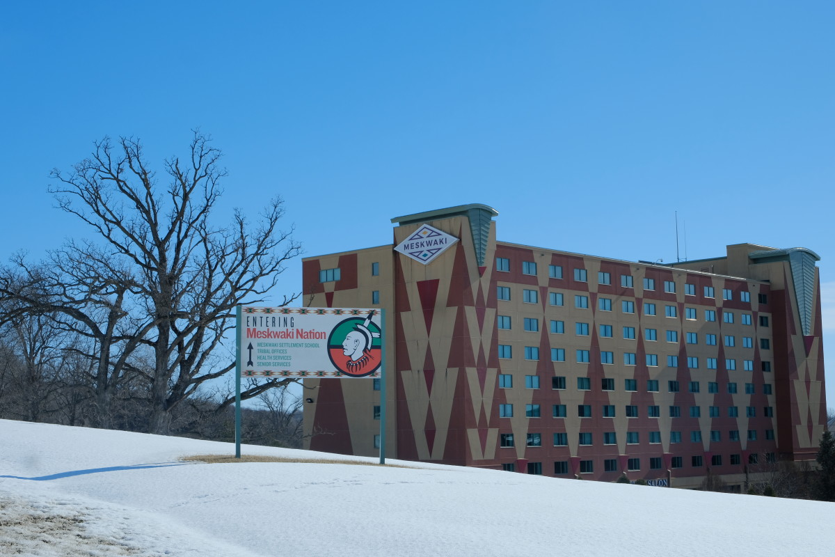 Beautiful weather on the Meskwaki Settlement in Tama, Iowa, is expected to hold on through Feb. 3 ensuring a good turnout for the Democratic presidential caucus. (Photo by Mary Annette Pember)