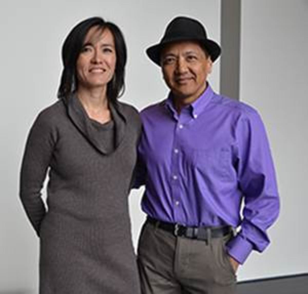 Pictured: Sealaska Heritage Insitute donors Dawn Dinwoodie and  Rod Worl.