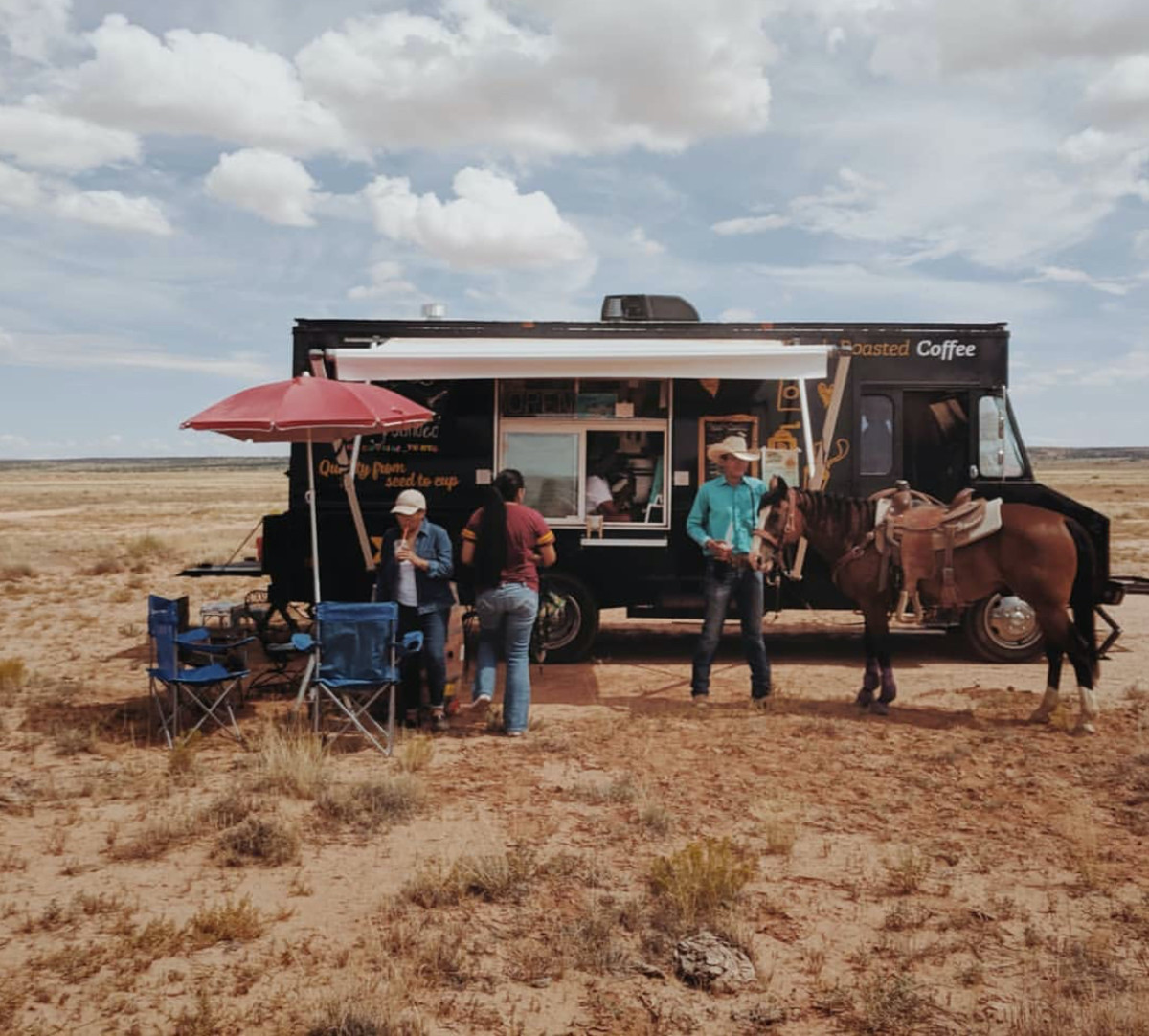 Navajo coffee truck. (Photo courtesy of Stay Grounded)