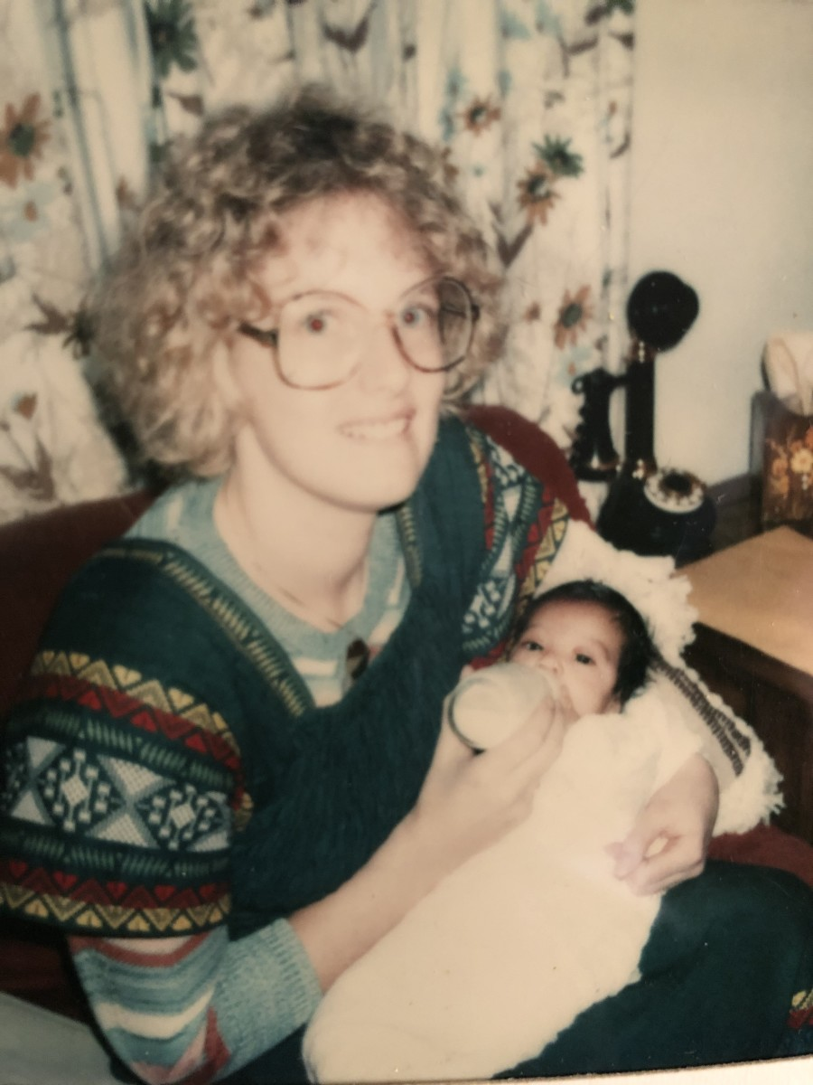 Rachael was six weeks old when she was adopted from El Salvador in 1978, and she is pictured here with her adopted mother Judi Devaney, shortly after their arrival to Boston in January of 1979.(Photo courtesy Rachael Devaney)