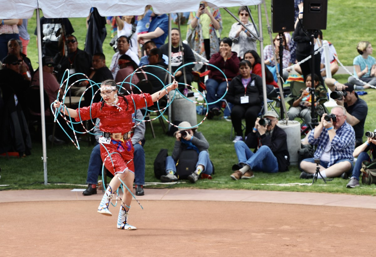 Taylee Dresser, 30th annual Heard Museum World Championship Hoop Dance Contest, Phoenix, Feb. 8-9, 2020. (Photo by Dalton Walker, Indian Country Today)