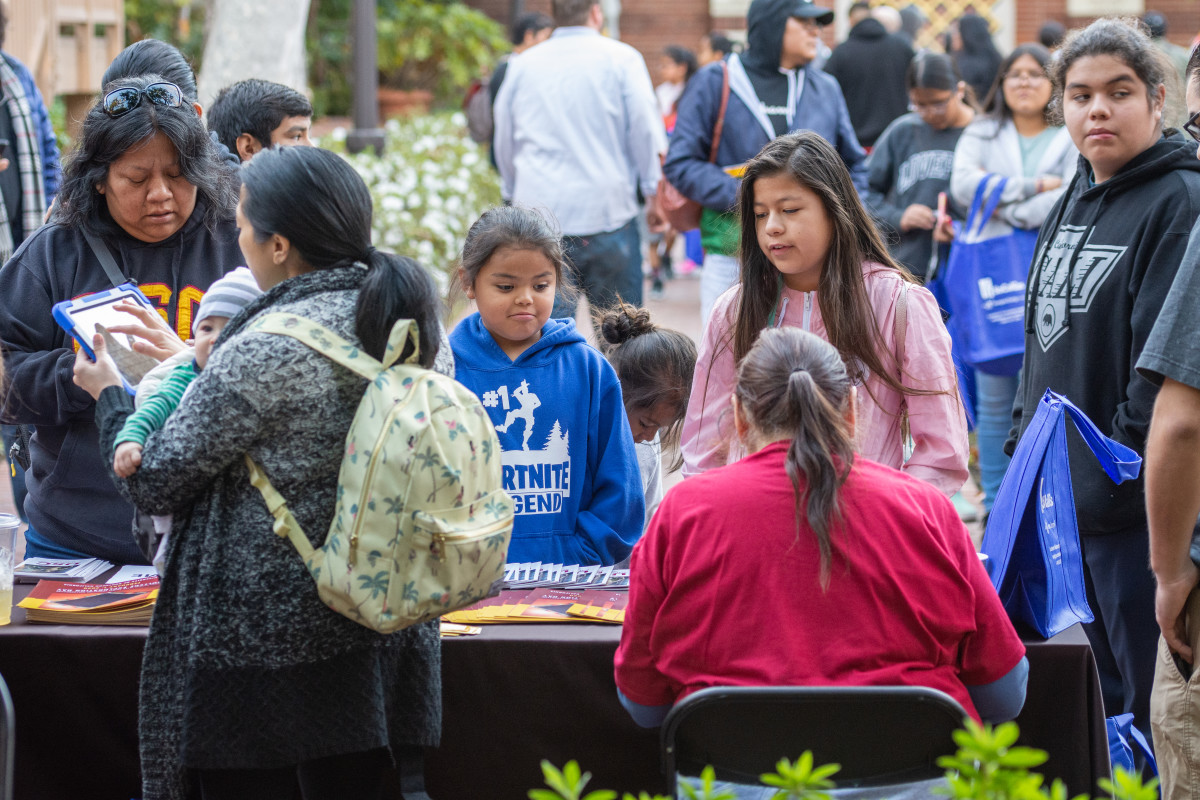 Parents and students could get free information about colleges, scholarship opportunities and more. (Photo by Natasha Brennan)