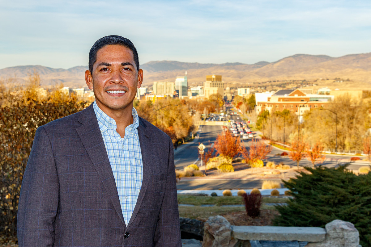 Pictured: Rudy Soto, Shoshone-Bannock Tribal Member, Democratic Candidate for Idaho's 1st Congressional District.