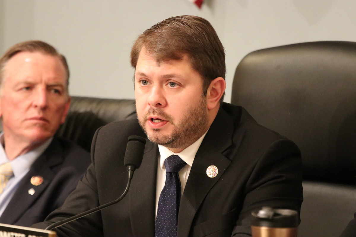 Chairman Ruben Gallego, D-Ariz., speaks during a Subcommittee for Indigenous Peoples of the United States oversight hearing on destruction at the border wall on Feb. 26. (Photo courtesy of House Committee on Natural Resources: Democrats)