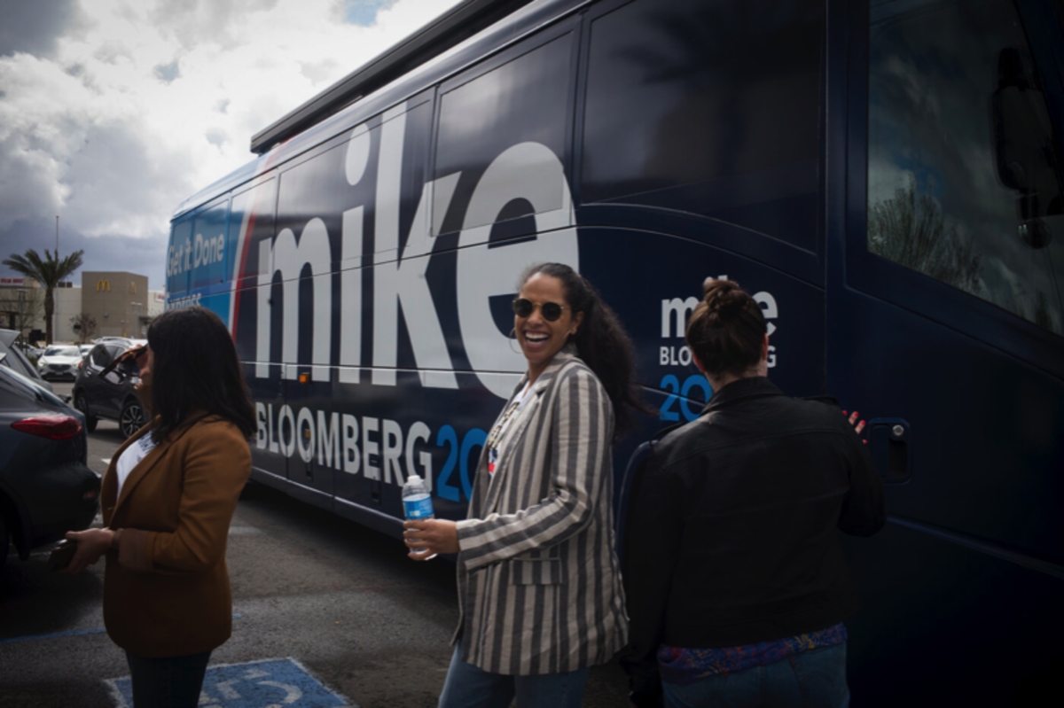 Amanda Finney, Lumbee, on the campaign trail for Mike Bloomberg's 2020 presidential campaign. (Photo courtesy of Amanda Finney)