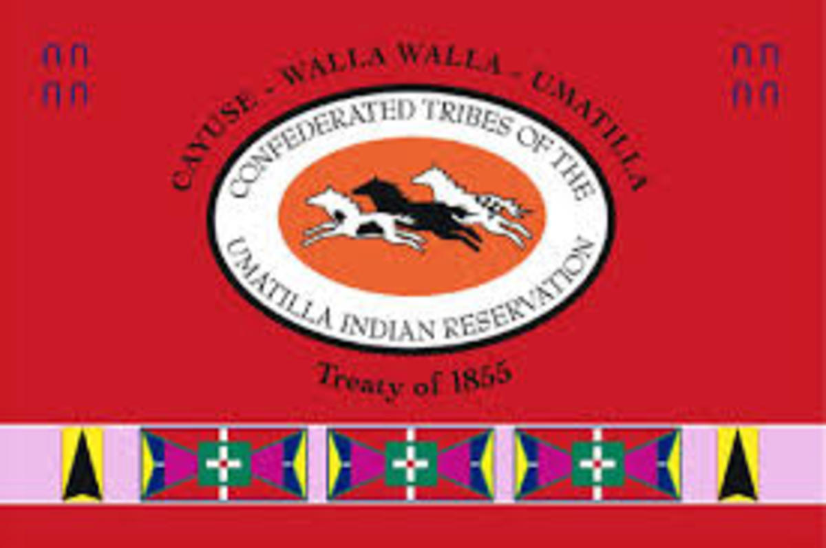 Confederated Tribes of the Umatilla Indian Reservation - flag
