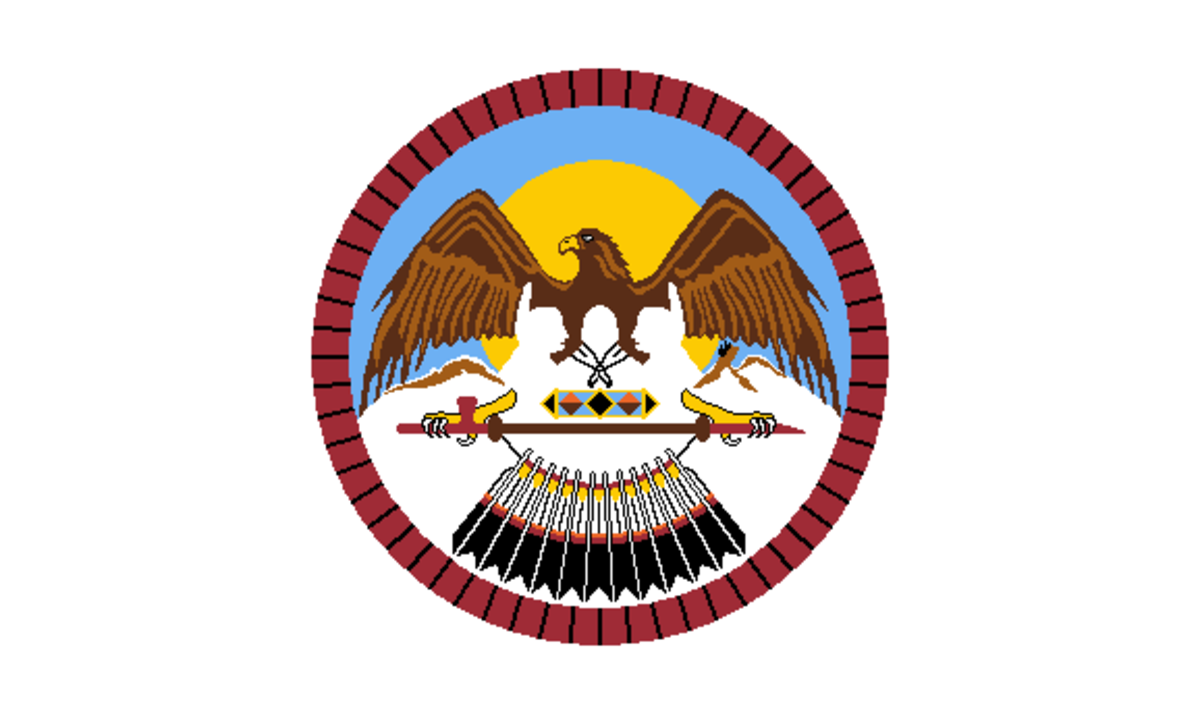 Ute Indian Tribe of the Uintah & Ouray Reservation - flag