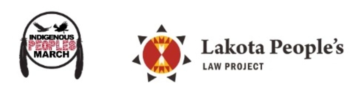 Indigenous Peoples Movement and the Lakota People's Law Project - logos