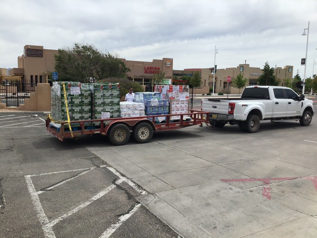 Pictured: A New Mexico Pueblo Relief Fund delivery.