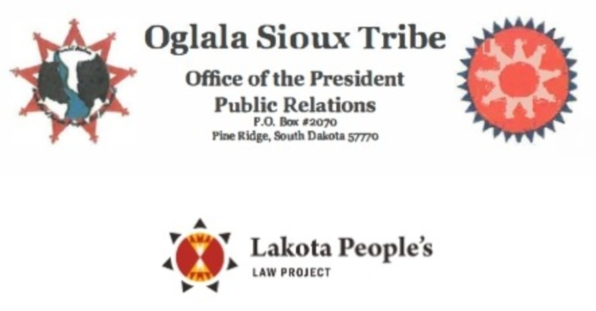 Oglala Sioux Tribe - Office of the President + Lakota Peoples Law Project _ logos