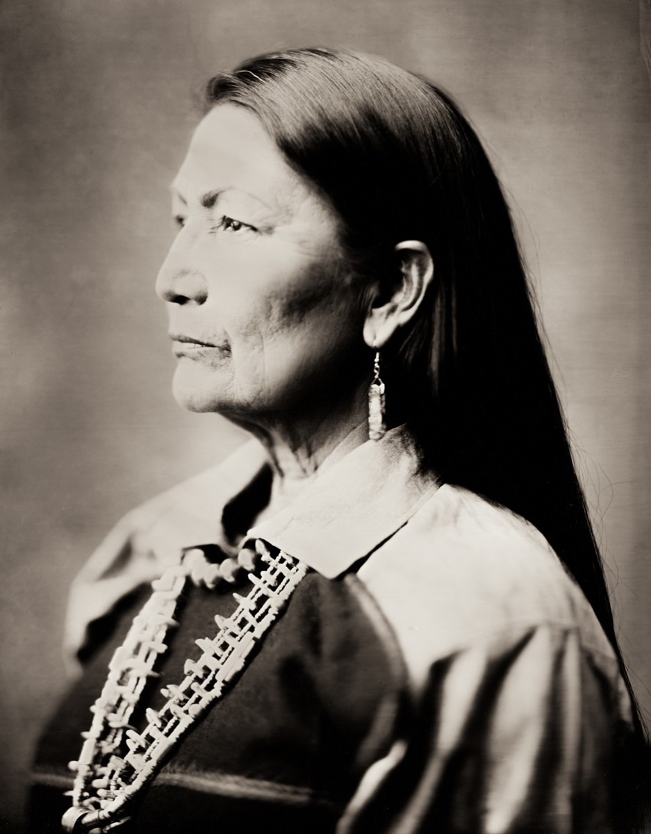 Balkowitsch took a wet plate of New Mexico Rep. Debra Haaland, Laguna and Jemez Pueblo, in 2019. This image appeared on the cover of High Plains Reader magazine's June 27, 2019 issue. (Photo by Shane Balkowitsch)