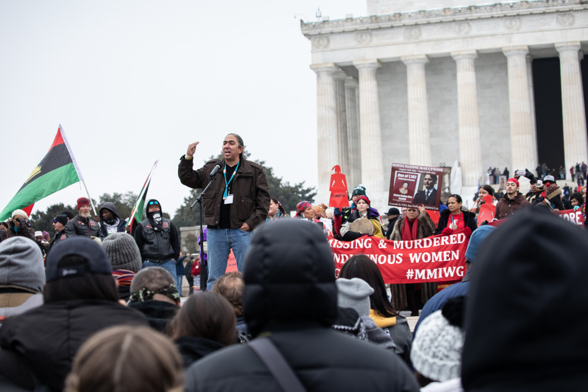 2019-01-18 Photo by Shane Bahn at The Indigenous Peoples March in DC