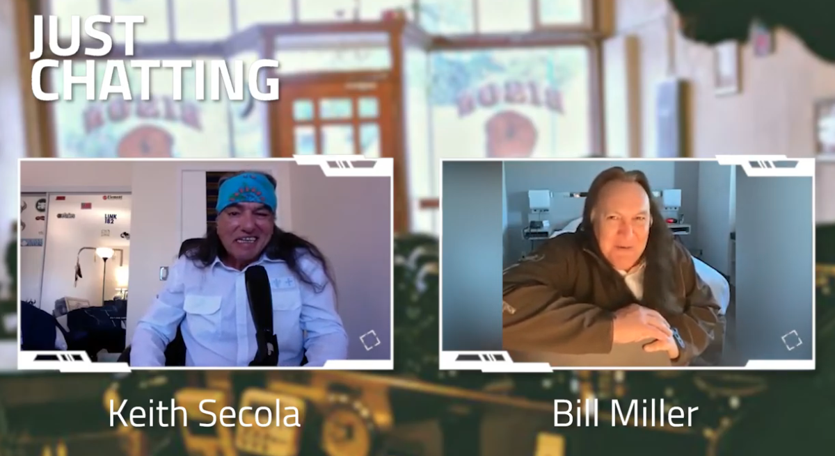 Keith Secola interviews Bill Miller on Native Americana Audio Cafe