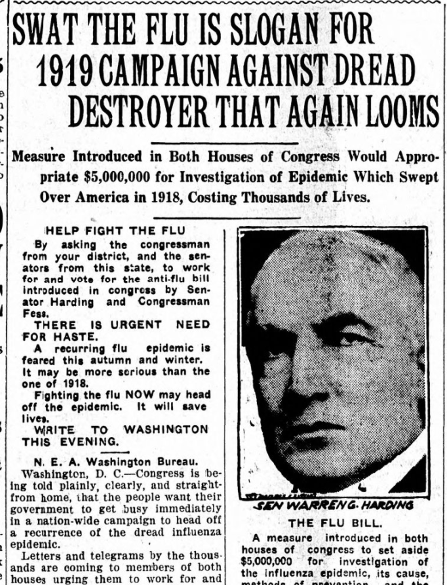 Warren G. Harding's campaign for president stressed a return to normal. (National Archives)