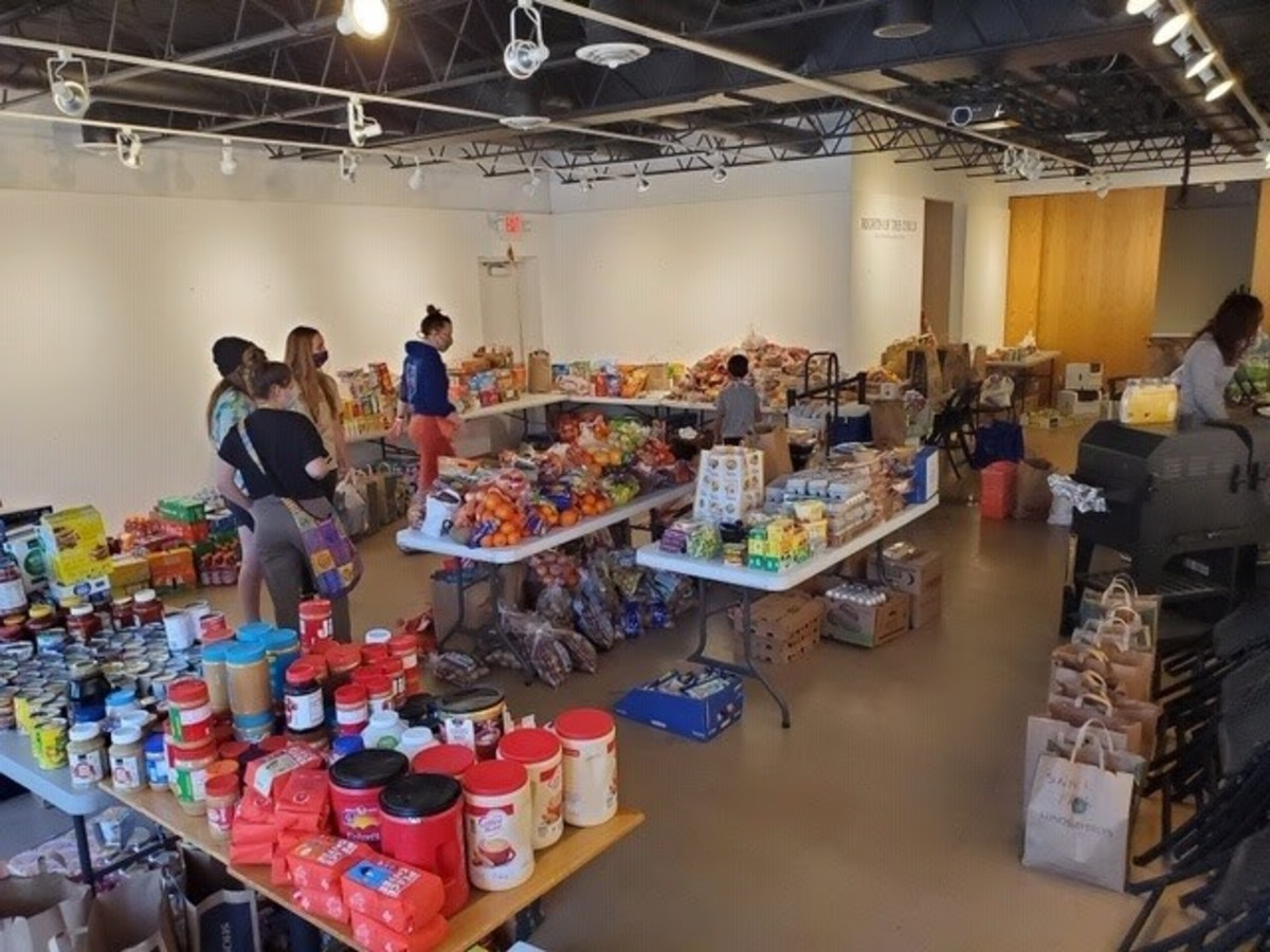 Donations for Natives needing groceries in the Twin Cities filled up at Pow Wow Grounds coffee shop and diner in Minneapolis amid civil unrest, looting and rioting on Saturday. (Courtesy All My Relations Gallery)