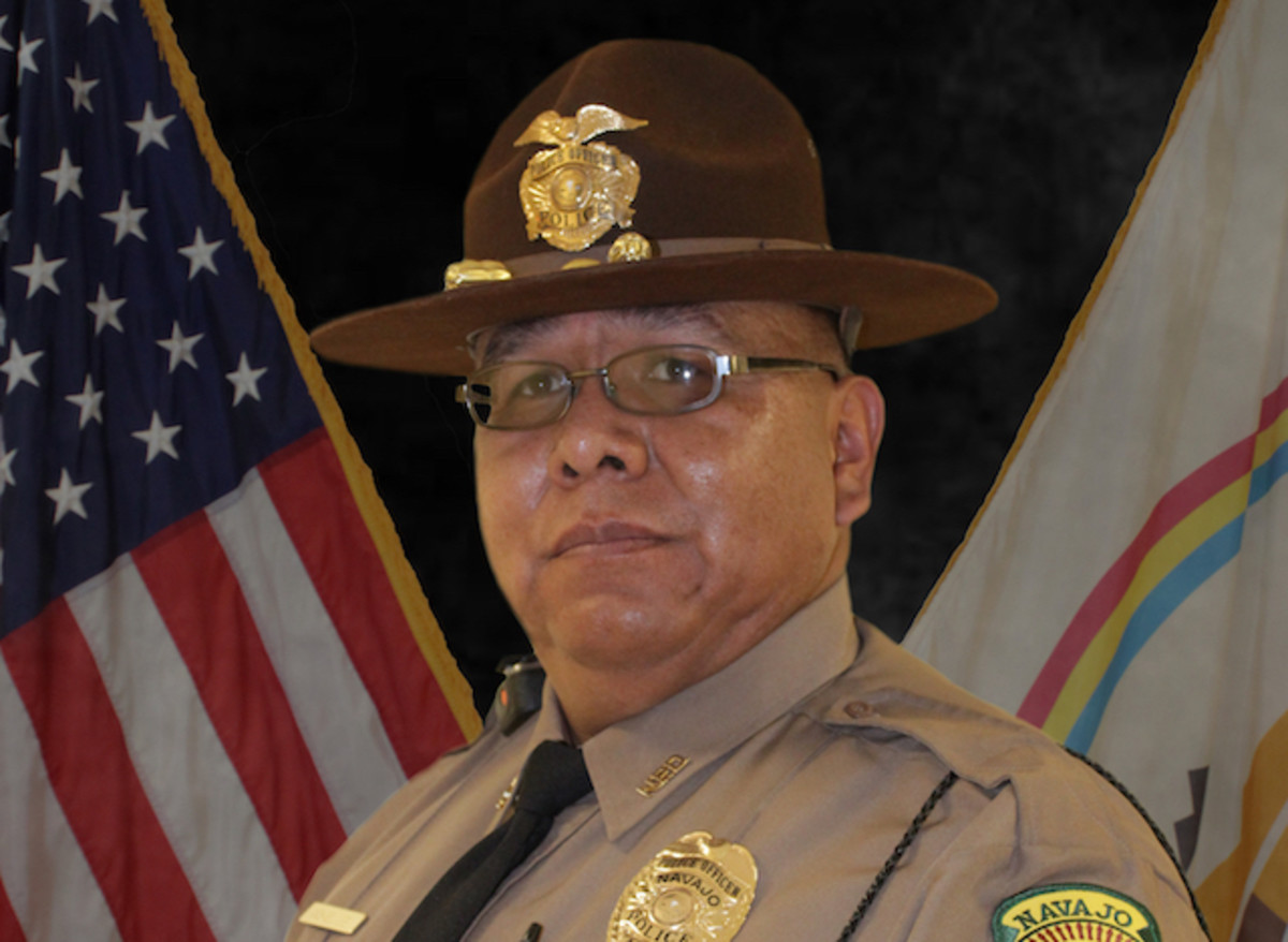 Officer Michael Lee of the Navajo Police Department. (Photo courtesy of the Navajo Police Department)