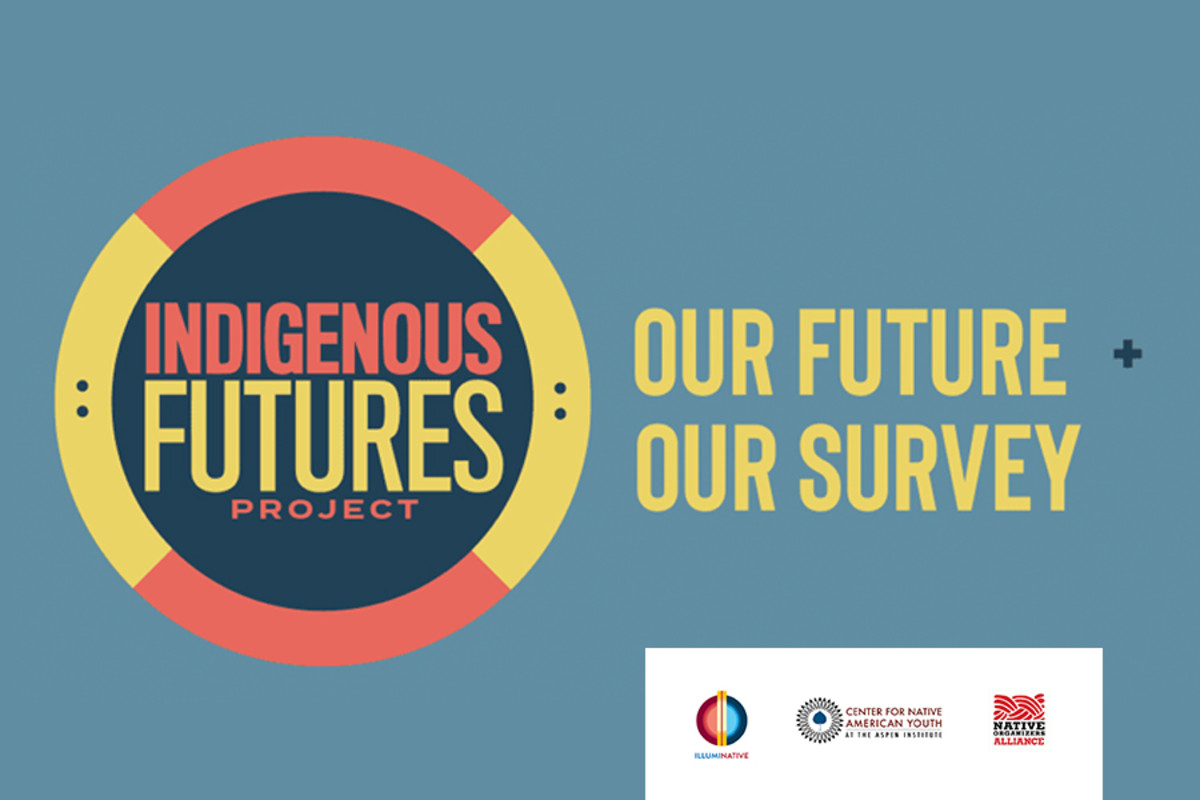 IllumiNative, Organizers Alliance, Aspen Institute Center for Native American Youth - Indigenous Futures Project survey graphic.