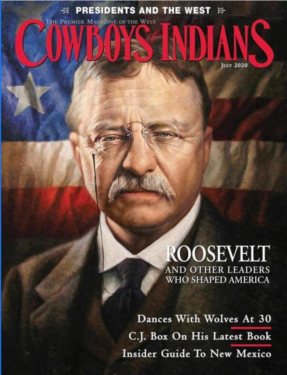 Pictured: The cover of the July 2020 edition of Cowboys & Indians magazine.