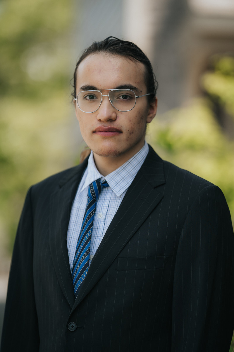Nathan Balk King, Rosebud Sioux Tribe, is the founder of Model United Nations: Indigenous. (Photo by Cindy Caughey)