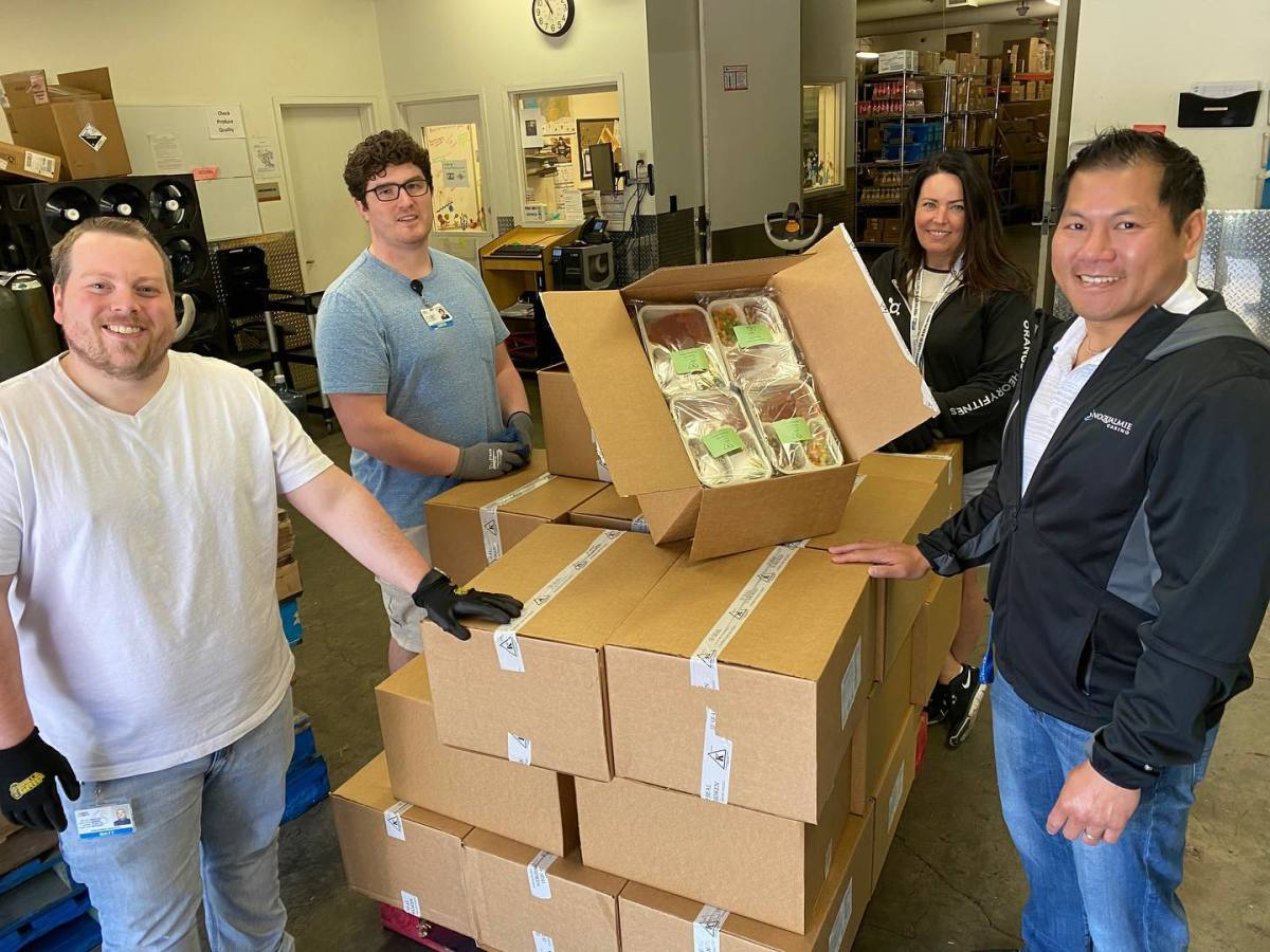"""""""We are so grateful to partner with the Snoqualmie Tribe to supplement the Snoqualmie Valley School District's meal program by providing meals for students during next week's Spring Break. Big shout out to Trail Youth and Helping Hands backpack program for supporting valley youth and spearheading this program that provides nutrition assistance on weekends and school vacations. #strongertogether"""" (Photo by Snoqualmie Casino, Facebook)"""