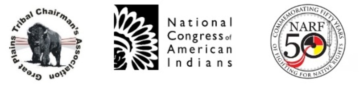 Great Plains Tribal Chairmen's Association (GPTCA), the Native American Rights Fund (NARF), and the National Congress of American Indians Fund (NCAI Fund) - logos