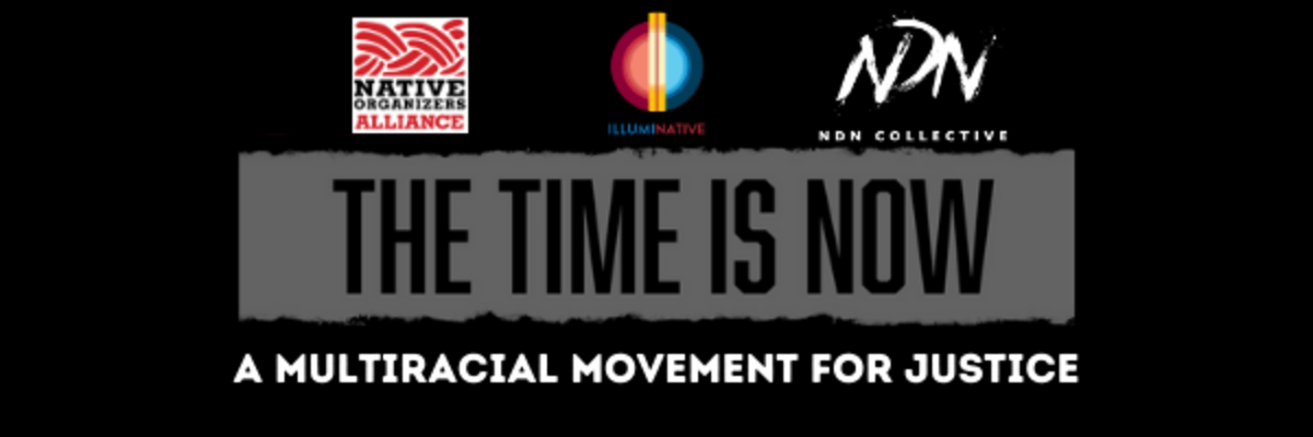 The Time Is Now - Multiracial Movement for Justice -  banner logo