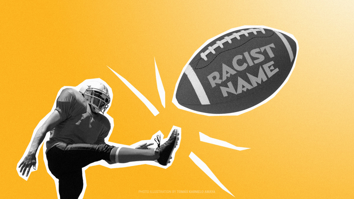 Washington NFL team. (Graphic by Tomás Karmelo Amaya, Indian Country Today)