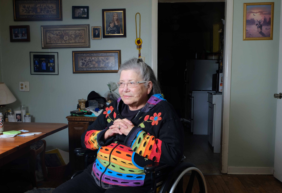 Delphine Hurd, 73, attended St. Mary's Mission school on the Bad River reservation in Wisconsin. Photo by Mary Annette Pember