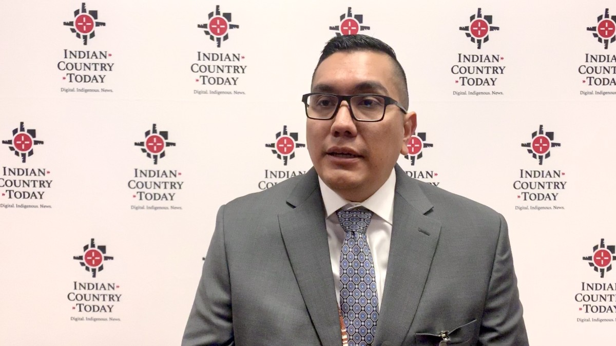Washoe Tribe Chairman Serrell Smokey at the annual National Congress of American Indians Mid-Year Conference in Nevada in June 2019. (Photo by Jourdan Bennett-Begaye, Indian Country Today, File)