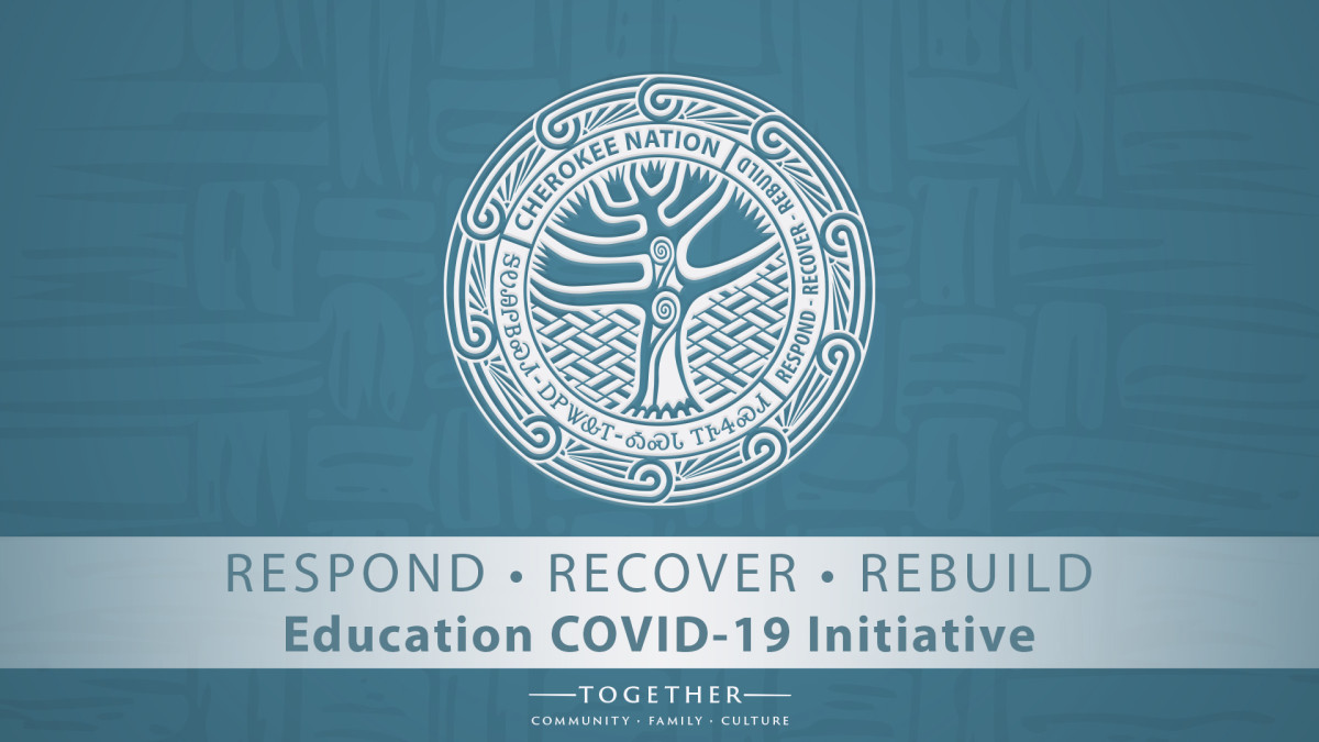 Pictured: Cherokee Nation's COVID-19 Respond, Recover and Rebuild Education COVID-19 Initiative graphic.