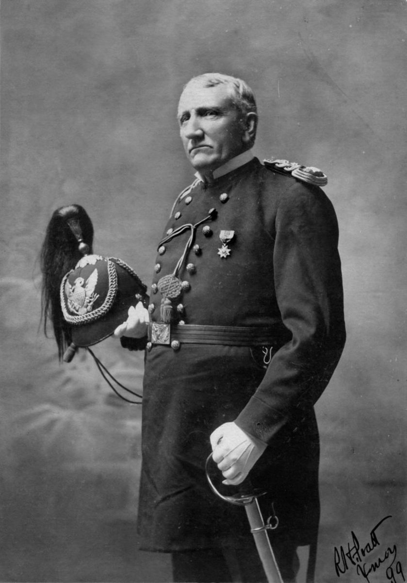"""Capt. Richard Henry Pratt, who founded the Carlisle Indian School and infamously said that, """"...all the Indian there is in the race should be dead. Kill the Indian in him, and save the man."""" (Photo courtesy of Public domain)"""