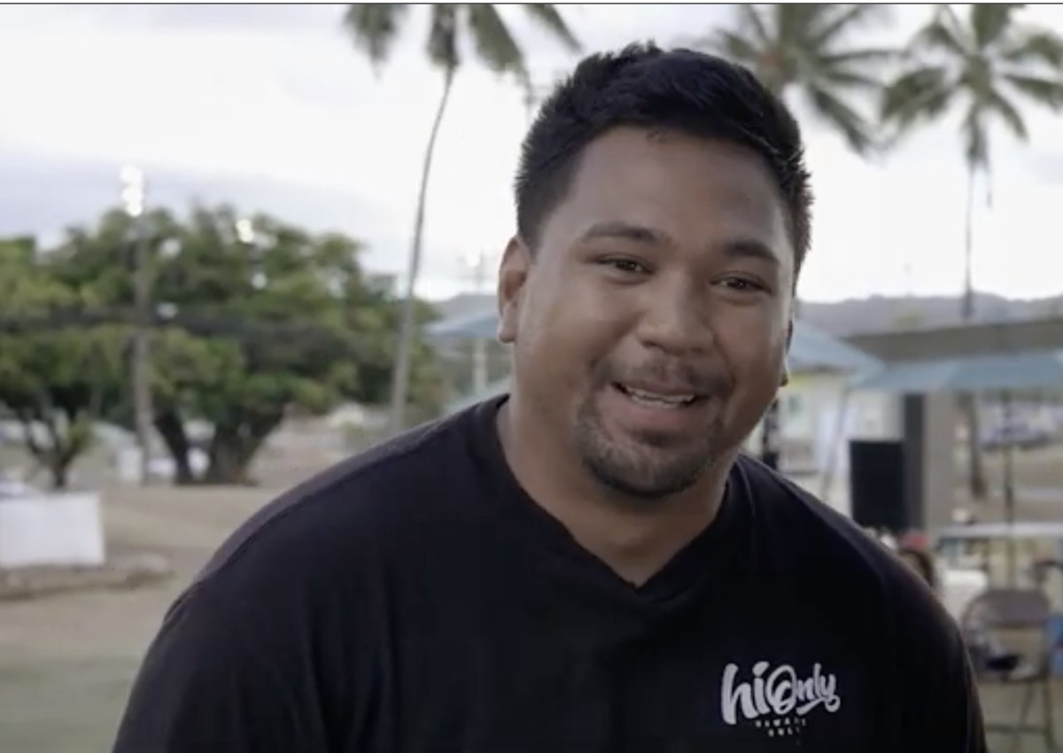 Lokahi Cuban, Native Hawaiian, co-owns two food trucks on O'ahu, the Hawai'ian island that gets the most tourists. He said his success, however, is thanks to local customers and support. (Screenshot of video by the National Center for Native American Enterprise Development, Sept. 2021)
