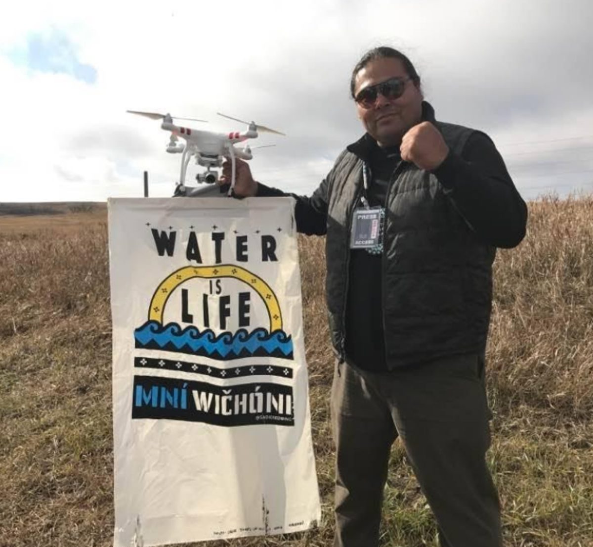 Myron Dewey received National recognition for his Standing Rock drone footage - Facebook