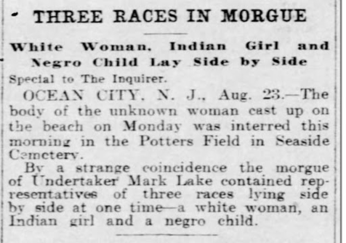 A brief story in The Philadelphia Inquirer on Aug. 24, 1905 notes the death of an Indigenous youth later identified as Nora Printup. She is buried at Seaside Cemetery, in Ocean City, New Jersey, but her ancestors have not been found. Associate Professor Louellyn White at Concordia University in Montreal, Canada, is trying to find families of her and other children who died while attending Indian boarding schools. (Photo courtesy of Louellyn White)