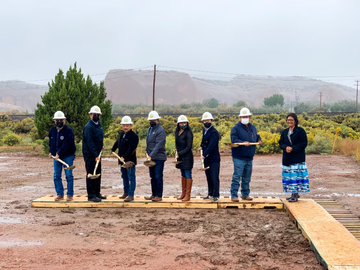 Pictured: Budget & Finance Chairman Jamie Henio joins Rhino Health CEO, Mark Lee, during Church Rock Factory groundbreaking ceremony.