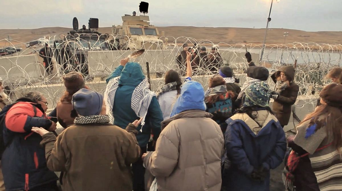 """Interactions at Standing Rock featured in """"End of the Line: The Women of Standing Rock,"""" directed and produced by Shannon Kring and co-produced by Pearl Daniel Means. (Courtesy image)"""