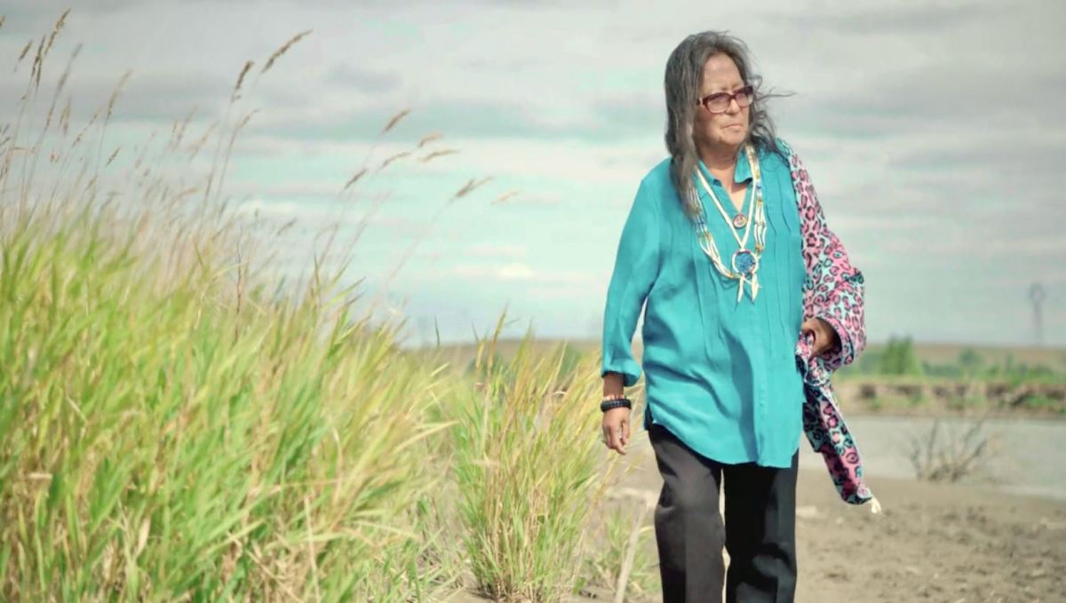 """Phyllis Young, one of the pivotal water protectors featured in """"End of the Line: The Women of Standing Rock,"""" directed and produced by Shannon Kring and co-produced by Pearl Daniel Means. (Courtesy image)"""